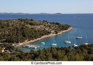 Lagoon in Croatian resort Murter. Photo taken at 3rd of July 2011