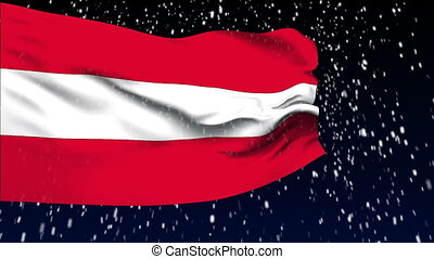 Flag of Austria - Flag of the Austria waving in the wind...
