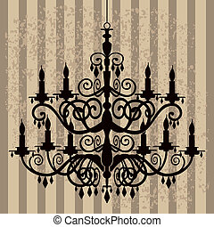 Vintage chandelier - Vintage, baroque chandelier silhouette...