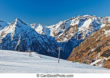 Ski resort in French Alps - Ski resort in Alps, France