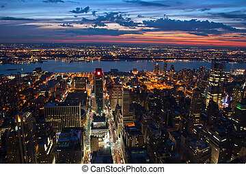New York after sunset