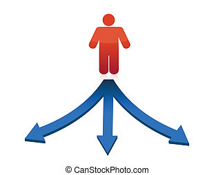 person facing to a difficult choice - The person facing to a...