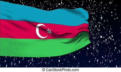 Flag of Azerbaijan - Flag of the Azerbaijan waving in the...