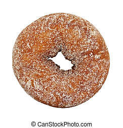 Plain sugar cake doughnut - A single cake doughnut that has...