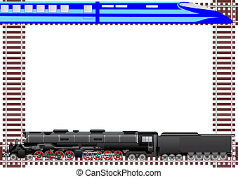 Transport railways - Rail transport and background of the...