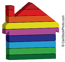 colorful 3d home icon