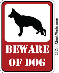 Beware of dog - Beware of dog sign - vector