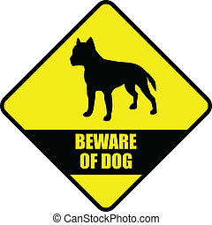 "beware of dog - ""beware of dog"" sign - vector"
