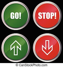 stop and go buttons