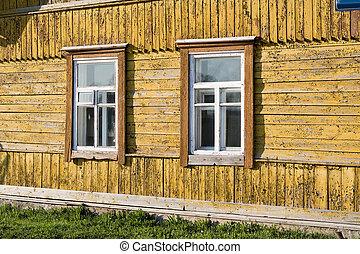 Old rural home facade.