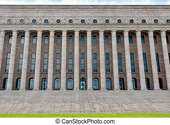 building of the Finnish parliament - The building of the...