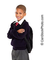 elementary pupil - half length portrait of young elementary...
