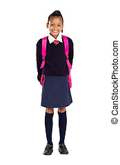 portrait of female elementary pupil - full length studio...