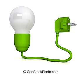 Electric plug over white background