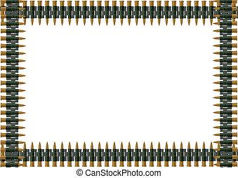 Machine-gun belt of ammunition