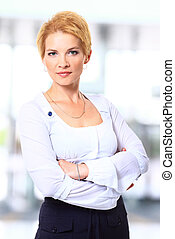 Portrait of business woman - Portrait of a pretty business...