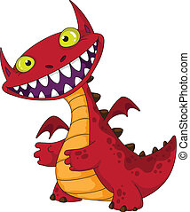 laughing dragon - illustration of a laughing dragon