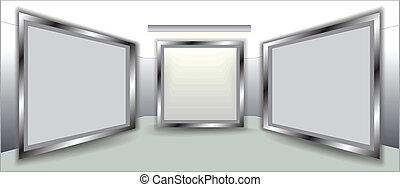 frames on wall - empty frames on wall