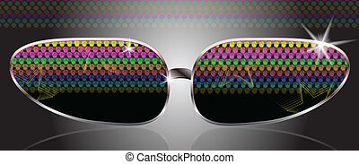 sun eye glasses - realistic sun eye glasses