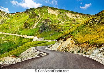 Transalpina winding road in Romania - Transalpina, the...
