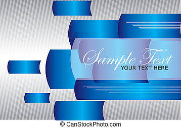 abstract shapes vector - blue, white, silver business...