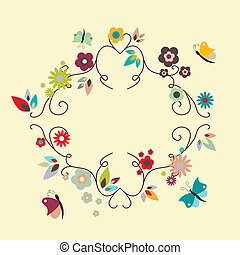 Frame - Vector floral elegant frame