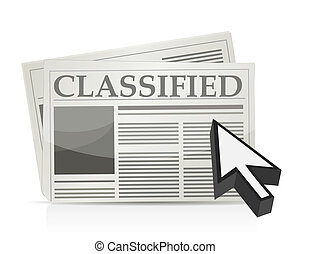 Newspaper classified ads page