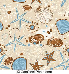 Beach seamless pattern