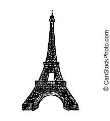 eifel tower  - hand drawn eifel tower from my fantasy