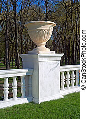 Park decoration - Fragment of the classical park baluster