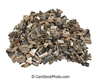 pile of firewood on a white background