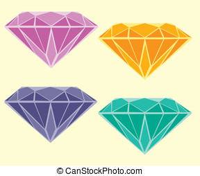 Diamonds - Different color diamonds