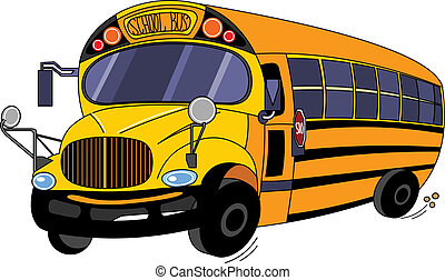 School Bus - Illustration of a School Bus