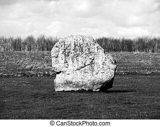 Avebury Standing Stones - One of the many ancient standing...