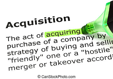 Acquiring highlighted, under Acquisition - Acquiring...
