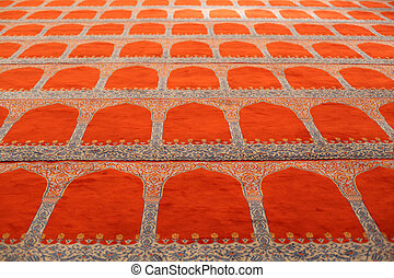 Carpet of the Suleymaniye mosque in Istanbul. Photo taken at...