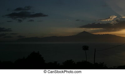 Canary Islands - Time lapse sunrise over Tenerife, Canary...