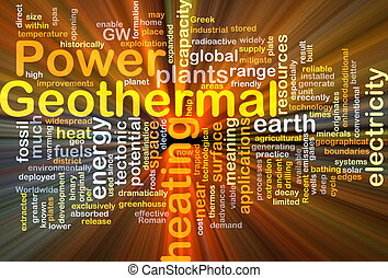 Geothermal power background concept glowing - Background...