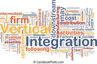 Vertical integration background concept