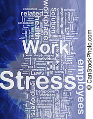 Work stress background concept - Background concept...