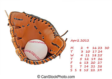 Calendar 2012 April - Page of 2012 calendar, month of April,...