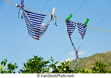 drying woman swimsuit