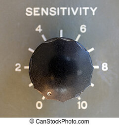 insensitive - ham radio dial that has the sensitivity turned...