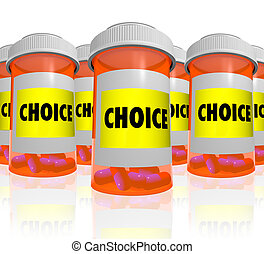 Choice - Choose from Many Prescription Bottles - Many orange...