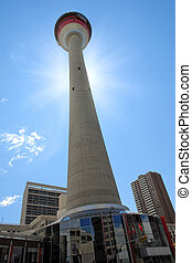 Calgary Tower in Downtown Calgary, Alberta, Canada