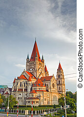Church Heiliger Franz of Assisi, Vienna, Austria - Church...