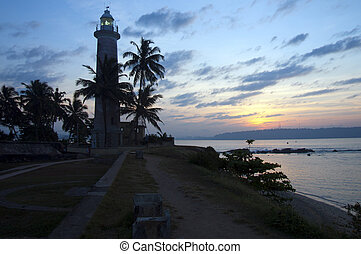 Lighthouse at dawn, Fort District, Galle, Sri Lanka