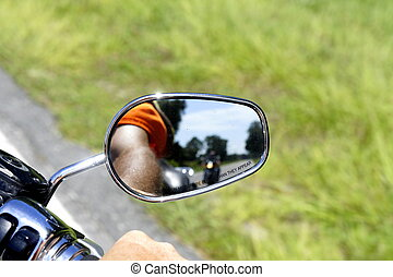 Rear View Mirror - Picture of a the rear view mirror on a...