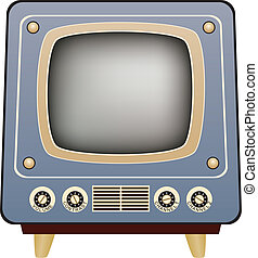 retro tv set - vector illustration of retro tv set