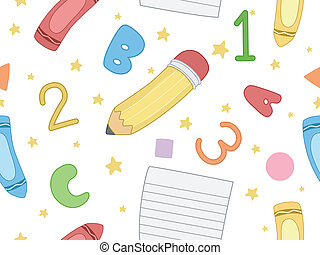 Preschool Seamless Background - Seamless Background...